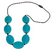 Jellystone Caru Teething Necklace in Turquoise Baja Green
