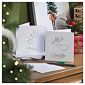 Angel and Dove Christmas Cards, 10 pack