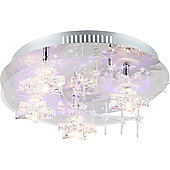 Home Essence Granatum 4 Light Semi-Flush Ceiling Light in Chrome
