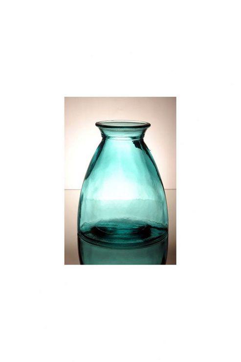 San Miguel Coloured Glass 20cm Vase in Blue