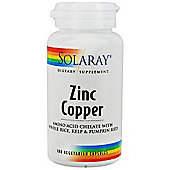 Solaray Zinc & Copper 50Mg / 2Mg 60 Veg Capsules