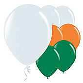 "Green, White & Orange Balloons - 9"" Latex Balloon (50pk)"