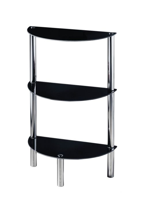 Premier Housewares Three Tier Half Round Shelf Unit