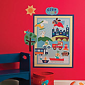 About Town Children's Wall Stickers