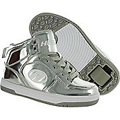 Heelys Flash - Silver Chrome - Size - UK 4 - Silver