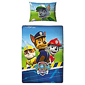 Paw Patrol 'Rescue' Junior Cot Bed Duvet Quilt Cover Set