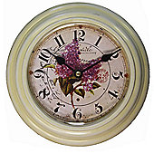 Wicker Valley Floral Wall Clock
