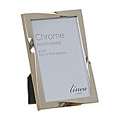 Linea Chrome Plated Twist Design Photo Frame 4X6 In Silver