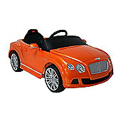 Kids Electric Car Bentley Continental GT 12 Volt Orange Gloss