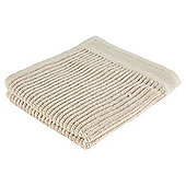 Elegant Home Textured Rib Face Cloth Taupe