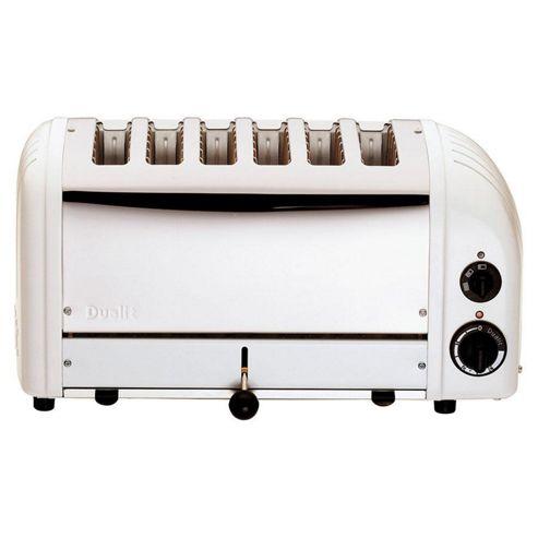 Dualit 6 Slot Toaster - White (M)