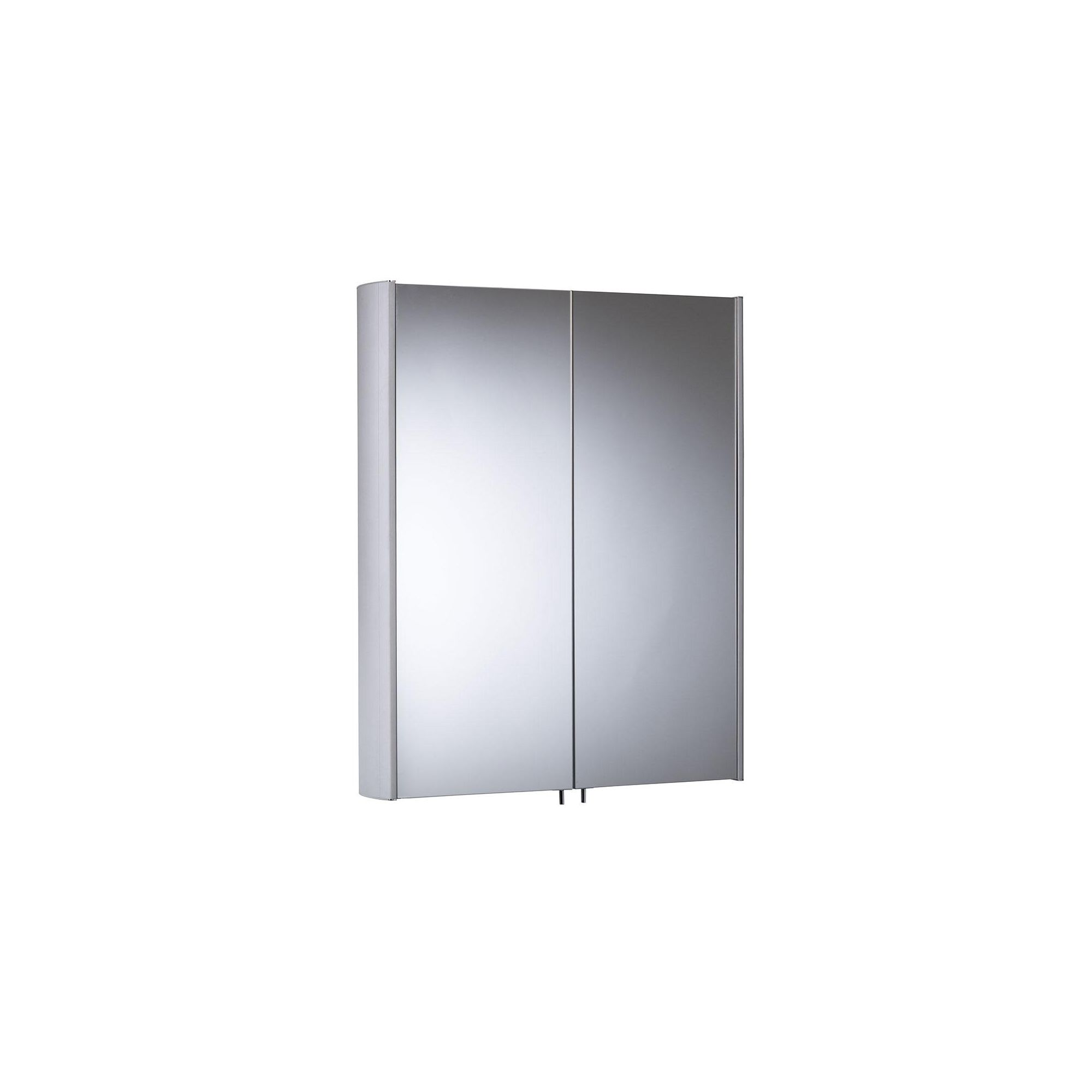 Tavistock Move Aluminium Double Door Cabinet without Electrics - 580mm Wide