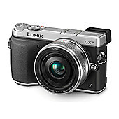 Panasonic Lumix DMC-GX7CEB-S Compact System Camera with 20 mm Lens - Silver