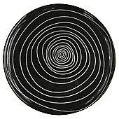 Tesco Atlanta Super White Porcelain Side Plate, Black