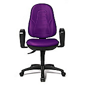 Topstar Welding Point Swivel Chair with Fixed Armrests in Purple