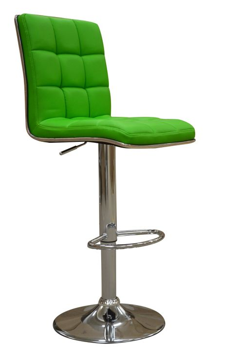 Atlanta Green Faux Leather Bar Stool