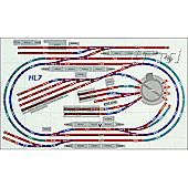 Hornby Digital Train Set Hl7 Layout Medium Double Oval With Turntable & Sidings