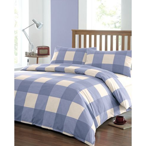 Newquay Single Quilt Cover Set - Blue