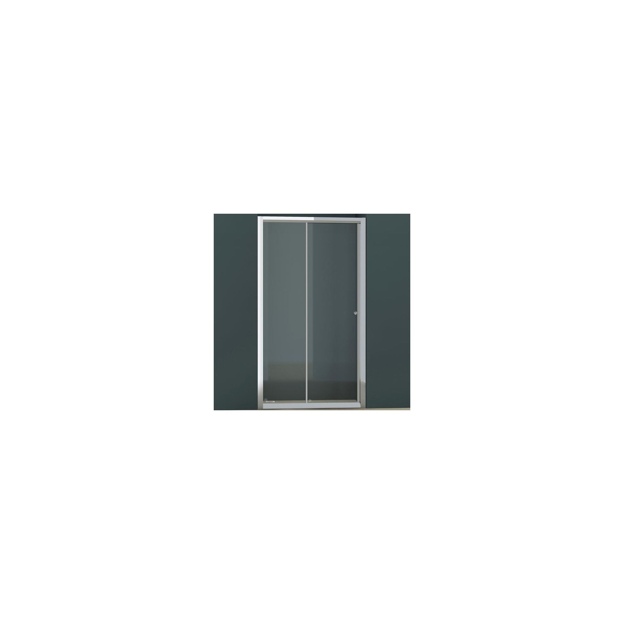 Vessini E Series Sliding Shower Door, 1100mm Wide, 6mm Glass at Tesco Direct