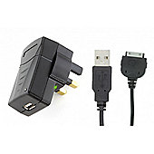 2in1 Mains Charger with Apple 30-pin cable for iPad 2.1A