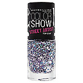 Maybelline Color Show Nail Top Coat White Splatter