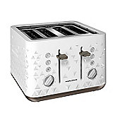 Morphy Richards Prism 248102 4 Slice Toaster - White