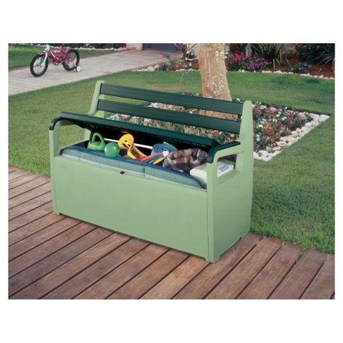 Buy Keter Storage Bench Box Green From Our Garden Storage Range Tesco