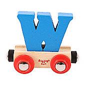 Bigjigs Rail Rail Name Letter W (Blue)