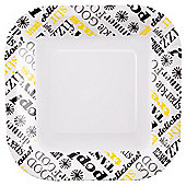 Table Fun Text Small Plates 20cm  8 Pack