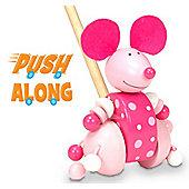 Fiesta Crafts Pink Mouse Push Along