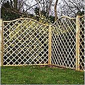 6FT Pressure Treated Wavey Diamond Trellis - 3 Panels Only (Base Price) 6'