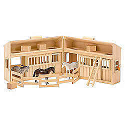 Melissa & Doug Fold and Go Wooden Stable