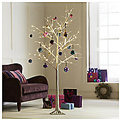Pre-Lit White Twig 6ft Christmas Tree, Tesco