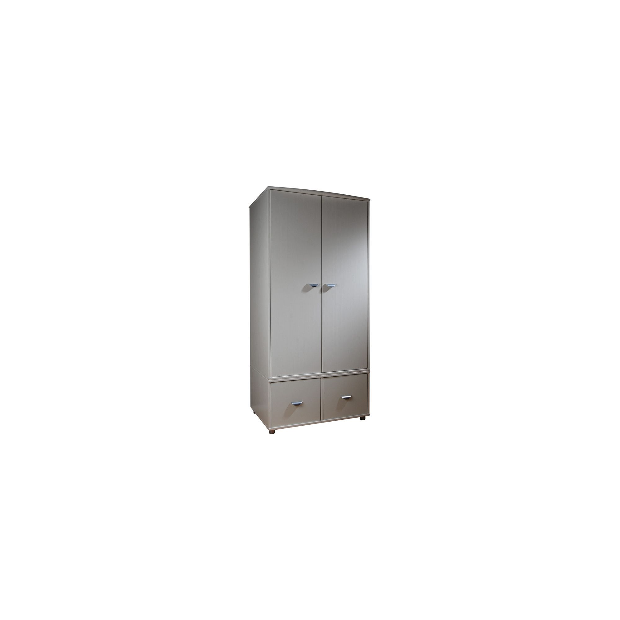 Stompa 2 Door 2 Drawer Wardrobe - Lilac - White at Tescos Direct