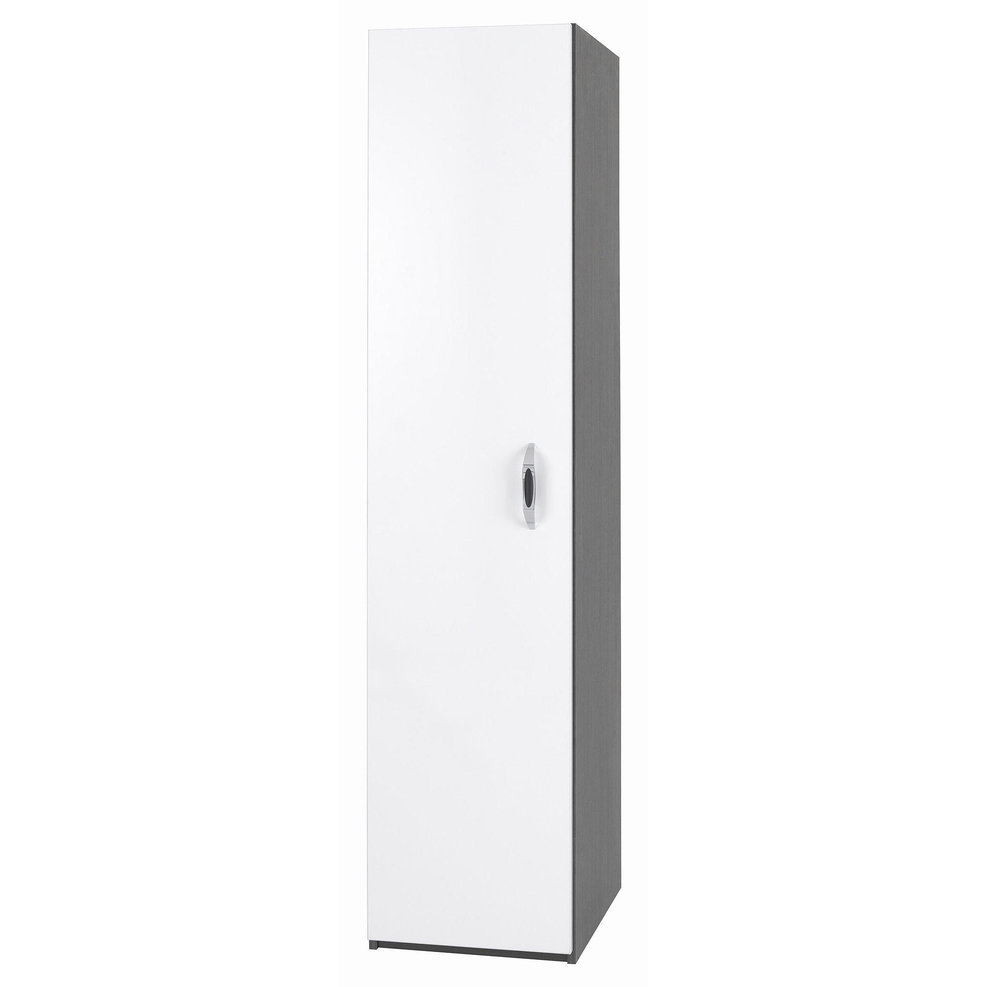 Alto Furniture Mode Piano Single Wardrobe in White at Tesco Direct