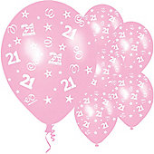 11' Birthday Perfection 21 Pink (25pk)
