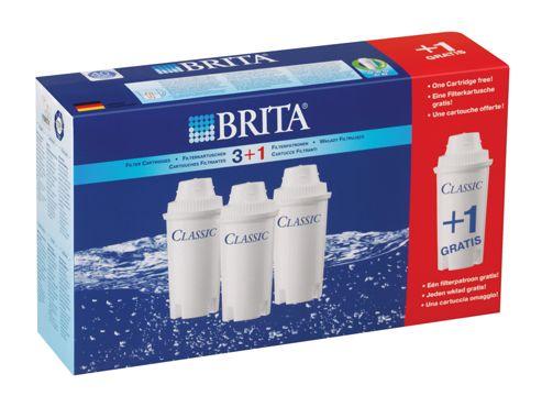 Brita 100405 Classic Filter Cart X3 +1 Free