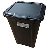 Tesco Basics 40L Bin, Black