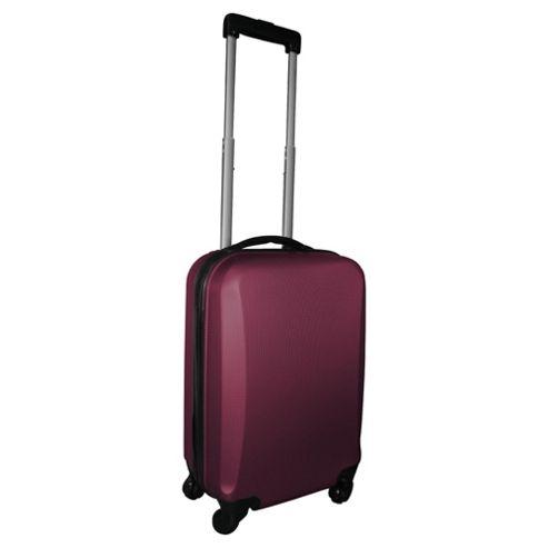 Tesco 4-Wheel Hard Shell Suitcase, Purple Small