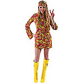 Female Hippie Costume Large