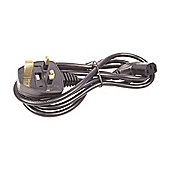 R/A Right Angled Iec UK Mains PC Power Lead Cable 3M