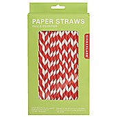 Paper Stripey Straws - Red/White - 144pk