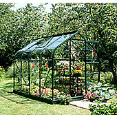 Halls 8x6 Supreme Greenframe Greenhouse + Base - Toughened Glass