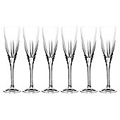 RCR Fusion Crystal Champagne Glasses, Set of 6