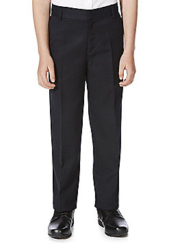 F&F School Boys Flat Front Trousers - Navy