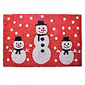 Snowman Design Christmas Coir Doormat for the Home