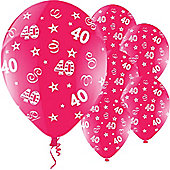 11' Birthday Perfection 40 Fuchsia (25pk)