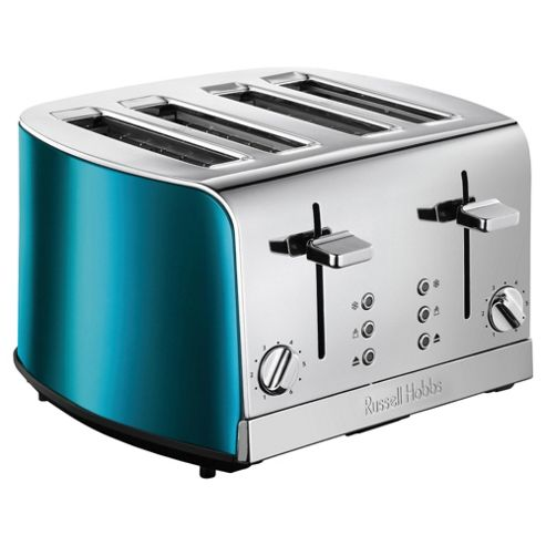buy russell hobbs 19710 4 slice toaster sapphire blue from our toasters range tesco. Black Bedroom Furniture Sets. Home Design Ideas