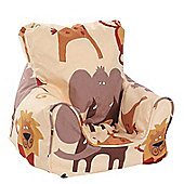 Just 4 Kidz Kids Practical Bean Chair - Roar Blue