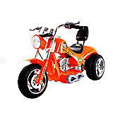 Kids 6V Chopper Style Ride On Bike - Orange